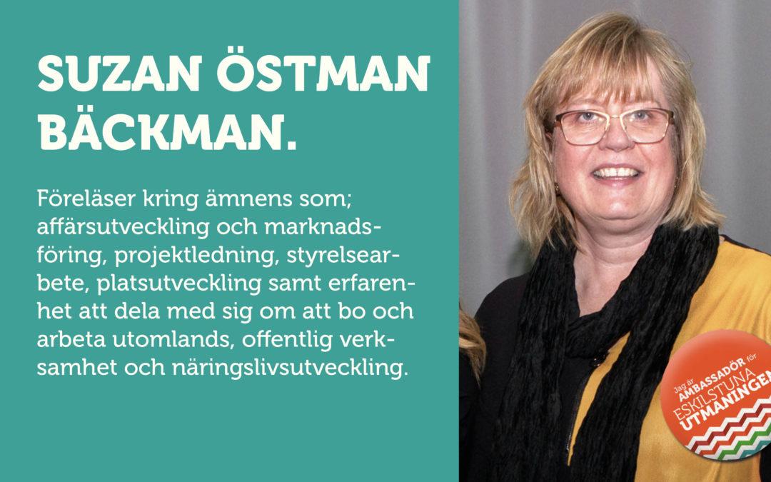 Suzan Östman Bäckman föreläser om bl.a. affärsutveckling
